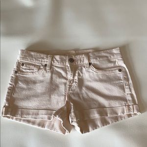 7 for mankind Pale pink shorts 26